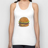 burger Tank Tops featuring Burger by RedNoseBlueCheeks