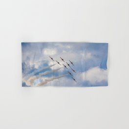 The Snowbirds in flight Hand & Bath Towel