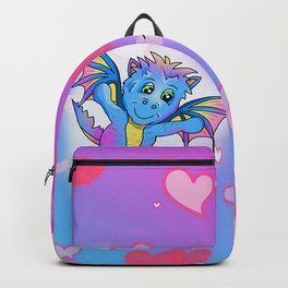 Cute little dragon with a big heart Backpack