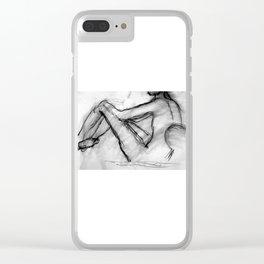 Male Sketch Clear iPhone Case
