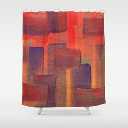 Abstract City Sunset Shower Curtain