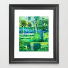 Monetcraft aka. the Advent of Pixelism Framed Art Print