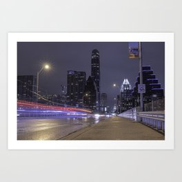Austin, Texas bridge Art Print