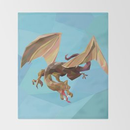 Against the Dragon Throw Blanket