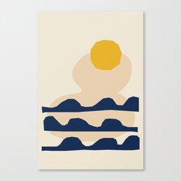 Sun Art Print - Vintage Sun Print - Solar Star Print - Whimsical Sun Decor - Yellow Sun Art - Retro Canvas Print