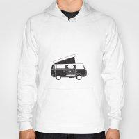 vw bus Hoodies featuring VW bus by kirsten bingham