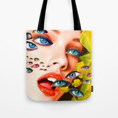 What You looking at? (collage) Tote Bag