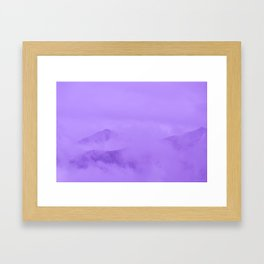 Lilac Fog Surrounding Anchorage Mountains Framed Art Print