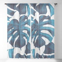 Tropical Monstera Leaves Dream #8 #tropical #decor #art #society6 Sheer Curtain
