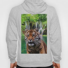 Tiger and Waterfall Hoody
