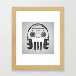 Old-Skull Framed Art Print
