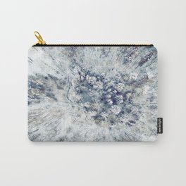 AERIAL. Frozen forest in winter Carry-All Pouch