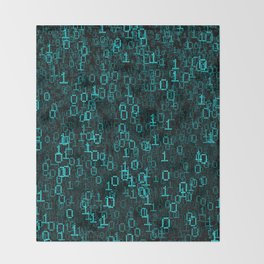 Binary Data Cloud Throw Blanket