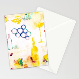 Abstract Wine - Yellow Stationery Cards