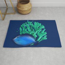Blue Fish Rug