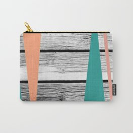 Colored arrows on wood Carry-All Pouch