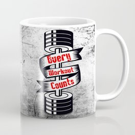 Every Workout Count Inspiring Gym Typography Quote Coffee Mug