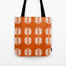 TROPICAL PALMS . ORANGE + WHITE Tote Bag
