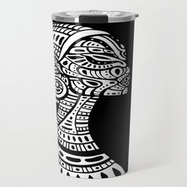 Black & White Regal Black Woman Travel Mug