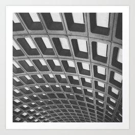 Metro Pattern Art Print