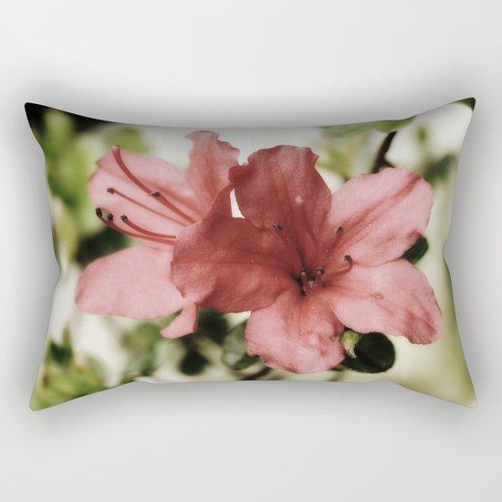 SOFT PINK FLOWER #1 - Azaleas Rectangular Pillow