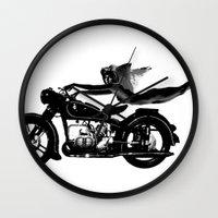 nirvana Wall Clocks featuring Nirvana by William Michael
