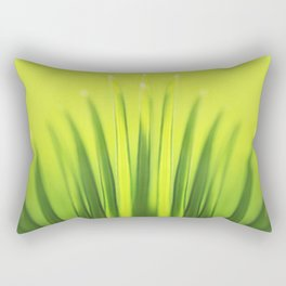 Palm Tree Sunlight Leaf Tropical Summer Green Yellow Hawaii Pattern Rectangular Pillow