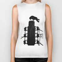crow Biker Tanks featuring crow by Bunny Noir