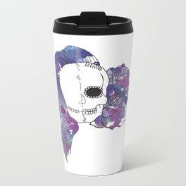Split Image (Purple) Metal Travel Mug