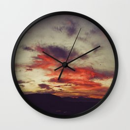 Supersaturated Dawn Wall Clock