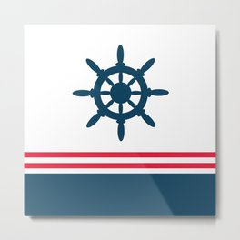 Sailing wheel Metal Print