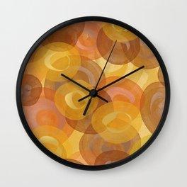 Autumn Swirls Wall Clock