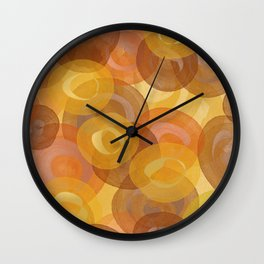 Autumn Swirls Wall Clock