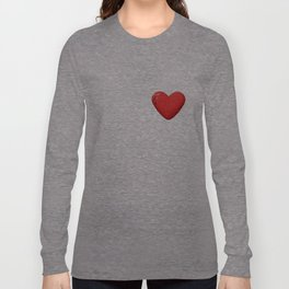 three-dimensional model of the heart valentines Long Sleeve T-shirt