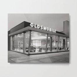 Mid-Century Auto Dealership, 1950. Vintage Photo Metal Print