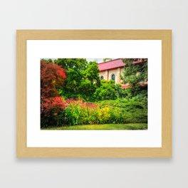 Red Roof Framed Art Print