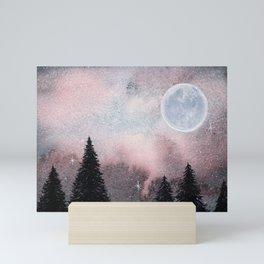 Bright Night Sky Watercolor Mini Art Print