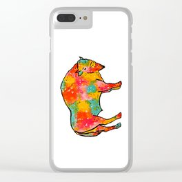 The Buffalo of Many Colors Clear iPhone Case