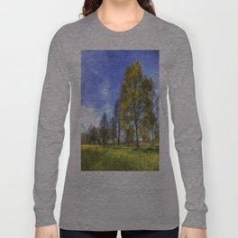 Summer Farm Trees Art Long Sleeve T-shirt