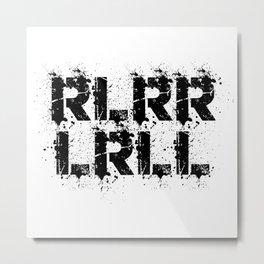 RLRRLRLL Drummer Paradiddle Drums Drumsticks Gift Metal Print