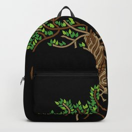 Rope Tree of Life. Rope Dojo 2017 black background Backpack