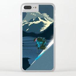 Retro ski Clear iPhone Case