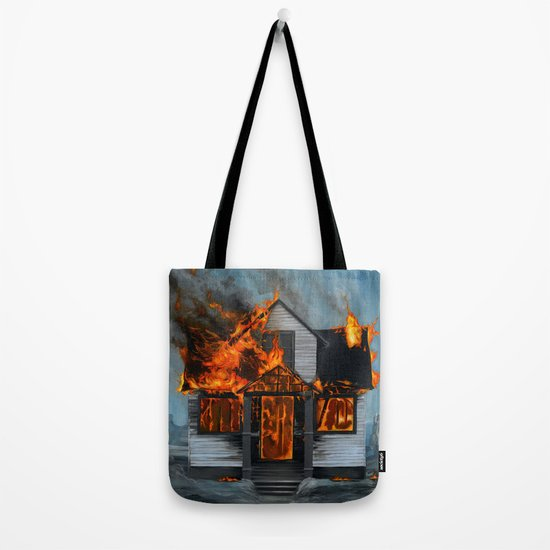 House on Fire Tote Bag
