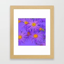 LAVENDER PURPLE ASTER FLOWERS ART Framed Art Print