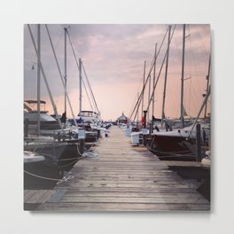 Sunrise at Northport Marina Metal Print