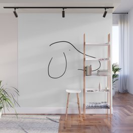 Dog Minimalist Two Lines Drawing Wall Mural