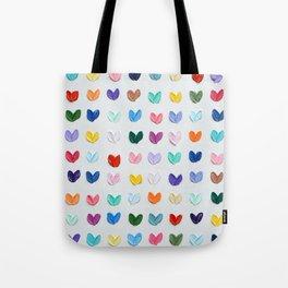Polka Daub Hearts Tote Bag