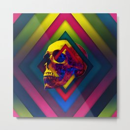 Lifeful Skull V2 Metal Print