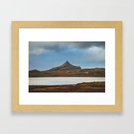 Road Trip in Iceland. || Icelandic Lake and Mountains. || MadaraTravels Art Print Framed Art Print