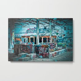 Abandoned Factory Made Art Metal Print